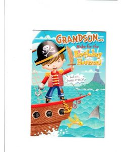 grandson make for birthday horizon Card
