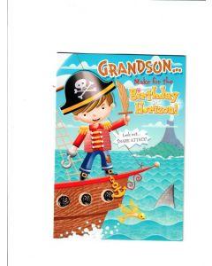 grandson make for birthday horizon Card