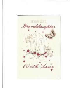 birthday wishes granddaughter  with love Card 190mm X 130mm