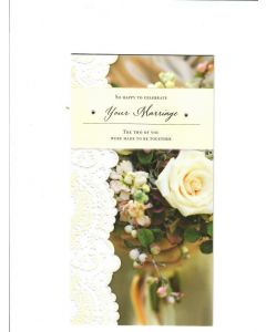 so happy to celebrate your marriage the two of you were made to be together Card 228mm X 115mm