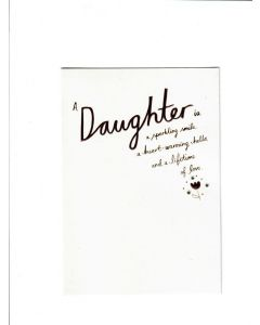 a daughter is a sparkling smile Card 190mm X 130mm