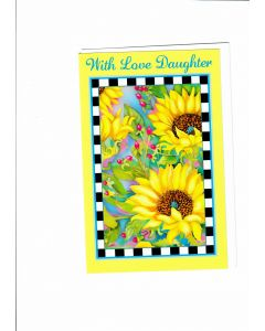 With Love Daughter Card - Yellow