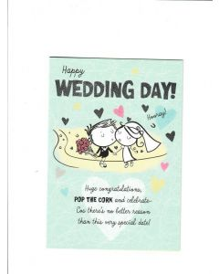 happy wedding Day  hooray Card