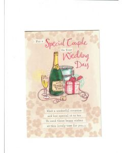 for a special couple on your wedding day Card