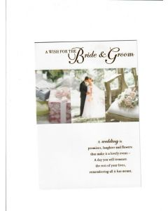 A Wish For the Bride and Groom Card