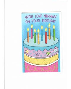With love nephew on your birthday Card