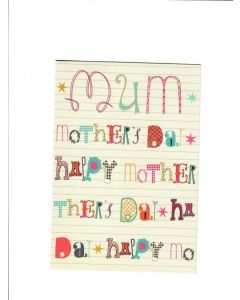 mum mothers day LGS2039 Card 190mm X 130mm