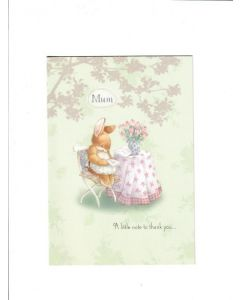mum a little note to thank you LGS2044 Card 190mm x 130mm [PACK OF 6]