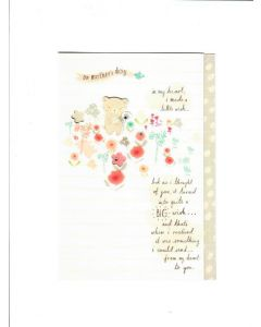 on mothers day in my heart,I made a liitle wish Card 190mm X 130mm