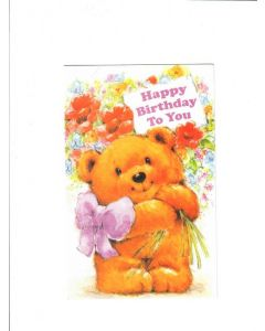 Happy Birthday To You Card - Sweet Teddy