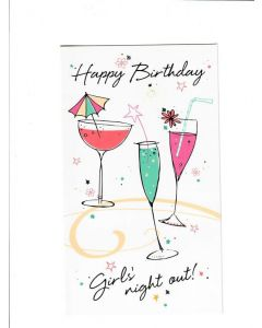 happy birthday girls night out Card