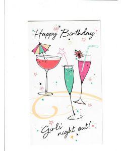 happy birthday girls night out Card