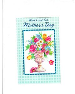 With Love On Mothers Day Card - Flower Pot
