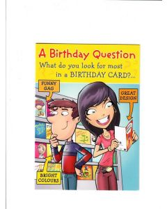 a birthday question what do you look for most in a birthday Card