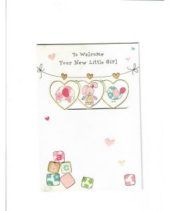 To Welcome a New Little Girl Card