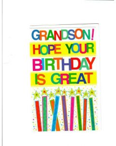 grandson hope your birthday is great Card