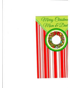 Mery christmas Mom-Dad Card