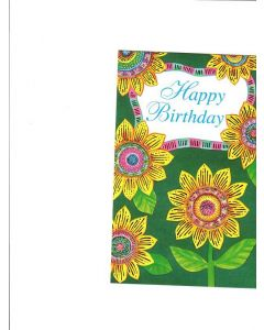 Happy Birthday Card - Beautiful Sunflower