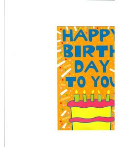 Happy Birthday to you card - Let's Party