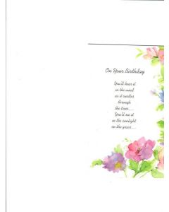 On Your Birthday Card - Sunlight on the Grass