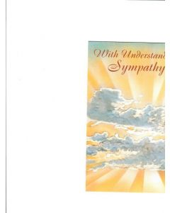 With understanding sympathy Card