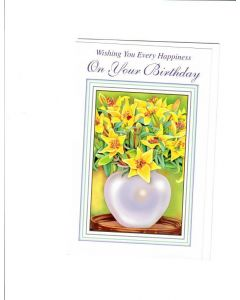 Wishing You Every Happiness On Your Birthday Card