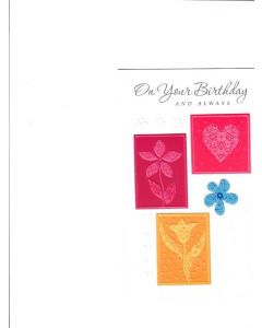 On your birthday and always Card