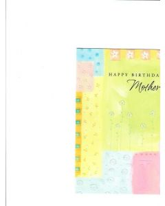Happy Birthday Mother Card - From Daughter