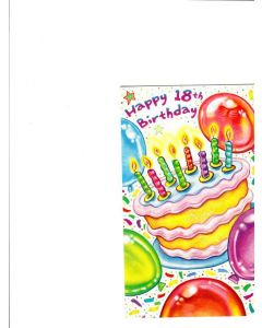 Happy 18 th birthday Card
