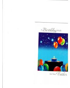A Birthday Wish Card - For Father