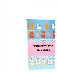 welcoming your new baby Card