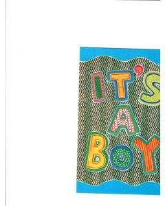 It's A Boy Card - Congratulations