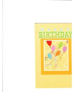 Happy Birthday Card - Flying Balloons
