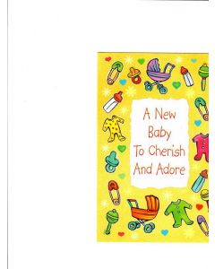 A new baby to Cherish and adore Card