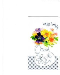Happy Birthday Card - Flower Painting
