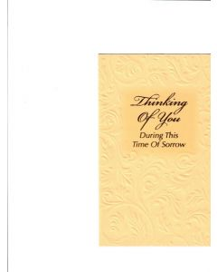 Thinking of you During this time of Sorrow Card