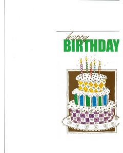 Happy Birthday Card - Candles on the Cake