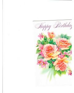 Happy Birthday Card - Flowers with Love