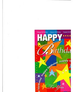 Happy Birthday Card - Birthday Stars