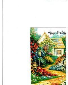 Happy Birthday Card - Beautiful House