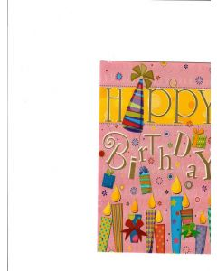 Happy Birthday Card - Preety Pink