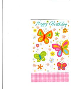 Happy Birthday Card - Beautiful Butterflies