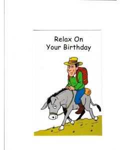 Relax on your birthday Card