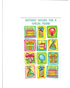 Birthday wishes for a special friend Card
