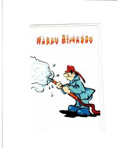 Happy Birthday Card - A Fireman