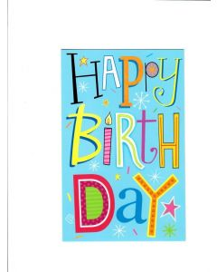 Happy Birthday Card - Birthday Blue