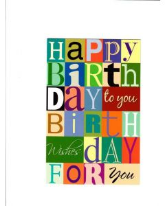 Happy birthday to you birthday wishes day for you Card