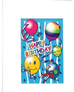 Happy Birthday Card - With Balloons