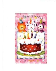 Happy Birthday Card - Party Cake