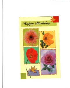Happy Birthday Card - Flowers | London Greetings